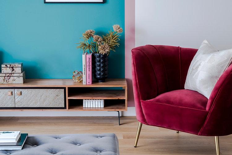 Modern furnishings in a showhome
