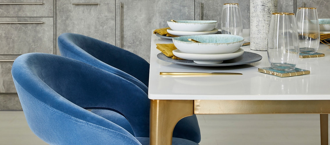 Luxurious dining area in a London showhome