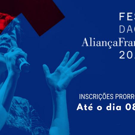 Festival da Canção Francesa 2019: INSCRIÇÕES PRORROGADAS