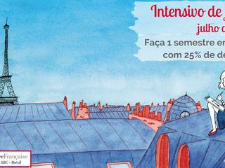 Curso intensivo de francês com 25% de desconto: matrículas abertas para julho