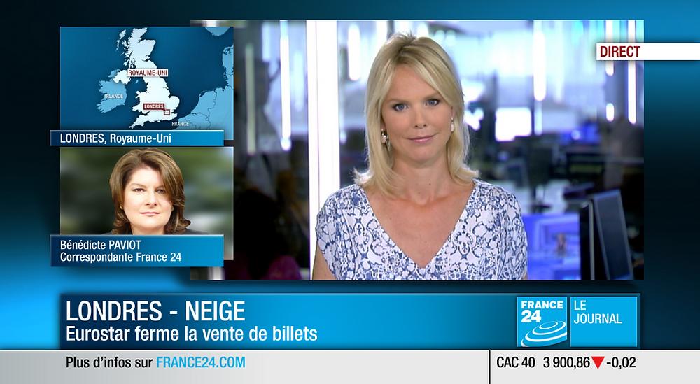 Tela do canal de televisão francês France 24.