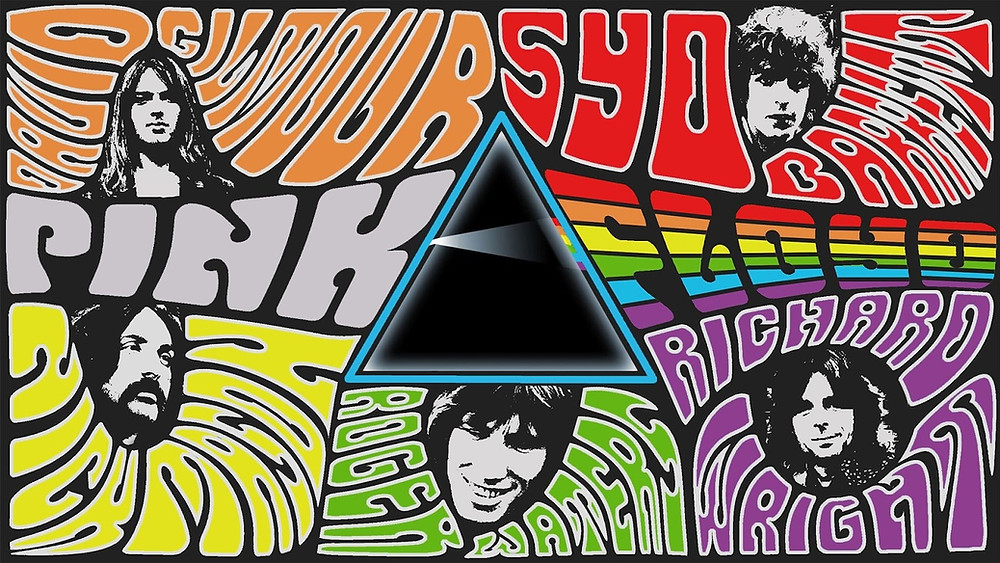 Psychedelic poster of the band pink floyd