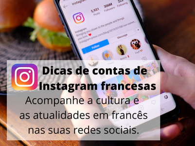Dicas de contas de  Instagram francesas