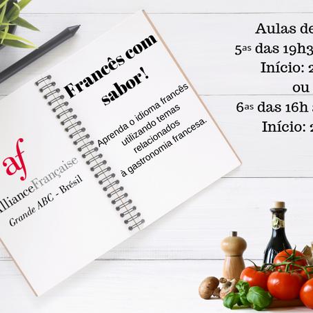 Francês com sabor: matrículas abertas