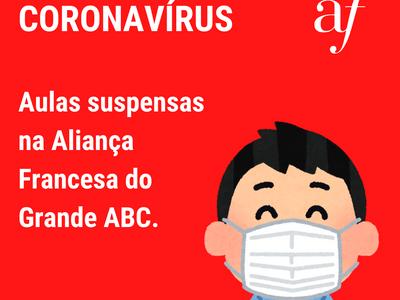 CORONAVÍRUS - Suspensão de Aulas