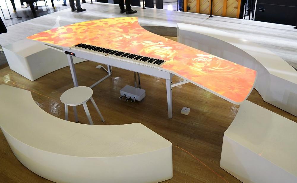 Yamaha piano installation