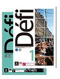 Imagem de divulgação: livro 1 do método Défi, material didático do curso regular de francês da Aliança Francesa do Grande ABC, em Santo André, São Paulo.