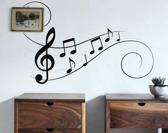 a picture of music wall decal