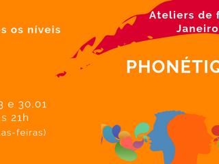 Atelier de fonética em janeiro de 2019