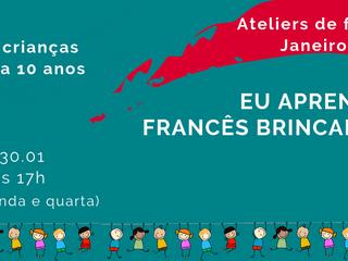 Eu aprendo francês brincando - atelier para crianças em janeiro de 2019