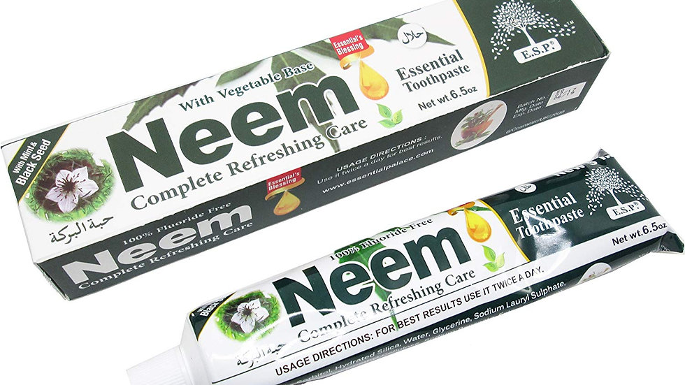 Neem 5 In 1 Fluoride Free Essential Toothpaste with Mint and Black Seed