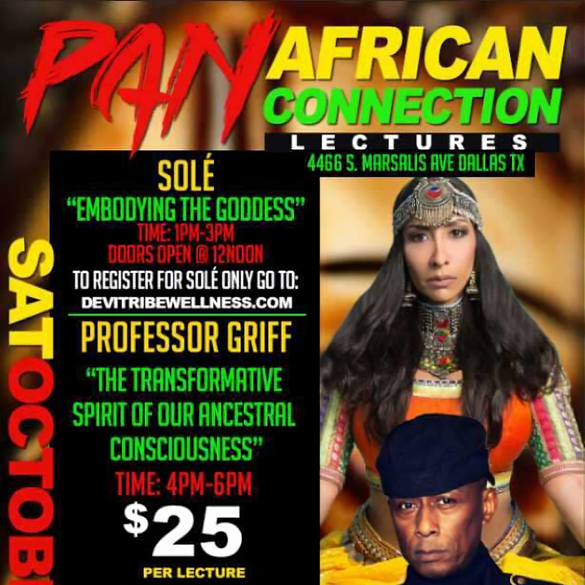 Professor Griff of Group Public Enemy and Wholistic Teacher Sole