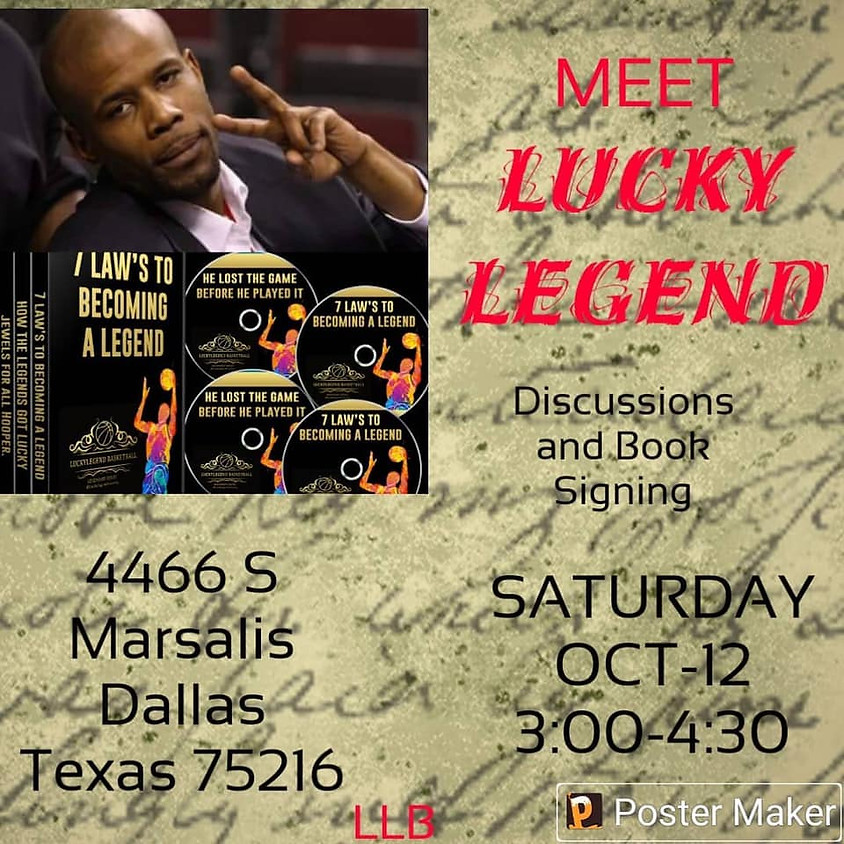 Strong Minds, Strong Athletes, Lucky Legend Book Signing
