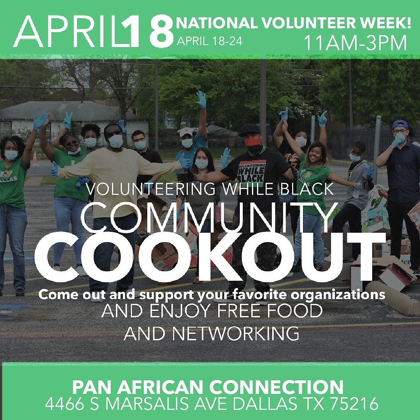 Volunteering While Black Community Cookout and Networking!