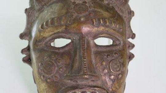 Benin Brass Royal Mask