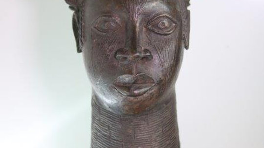 Benin Brass Queen Mother Head