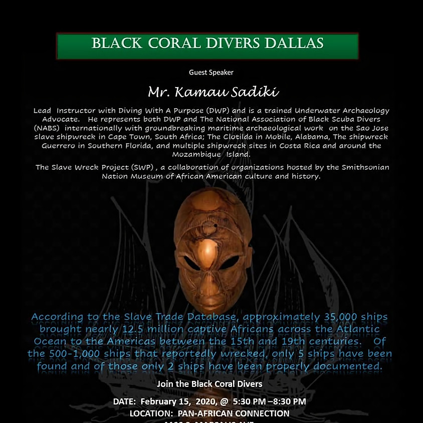 Kamau Sadiki Diver with a Purpose; Slave Wreck Project Speaks