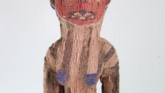 Bamileke Beaded Figure from Cameroon