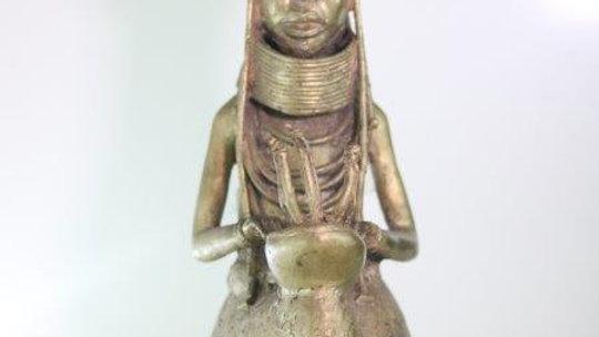 Benin Brass Queen Statue
