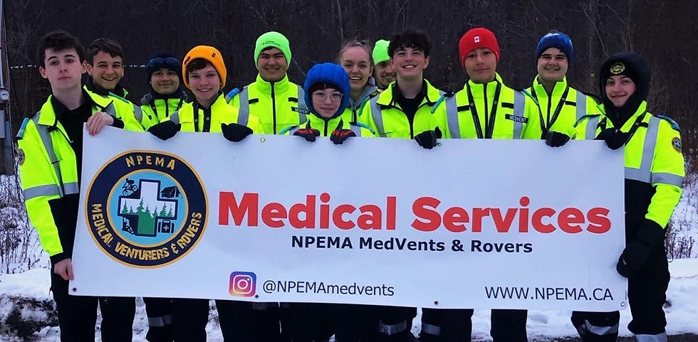 NPEMA MedVents at a SAR exercise in 2019