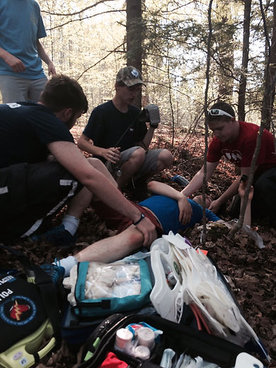 MedVents providing first aid in scenario demonstration