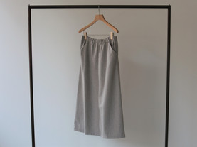 wool side flare skirt