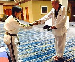 Receiving my 6th Dan Black Belt in April