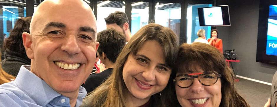 Mario Curi, Ana Paula Moreno e Marina Mazi