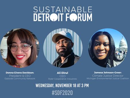 Virtual Sustainable Detroit Forum: Building connections for a resilient Detroit