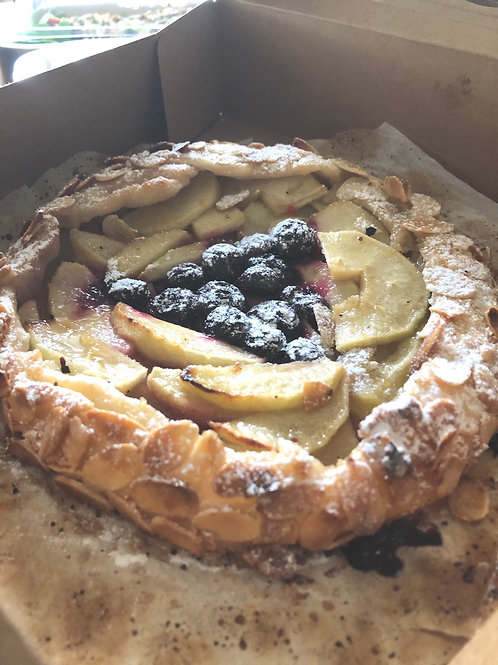 Almond crusted Apple & Blueberry Tart