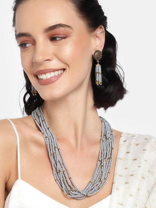 Women Grey Multi-Layered Jewellery Set