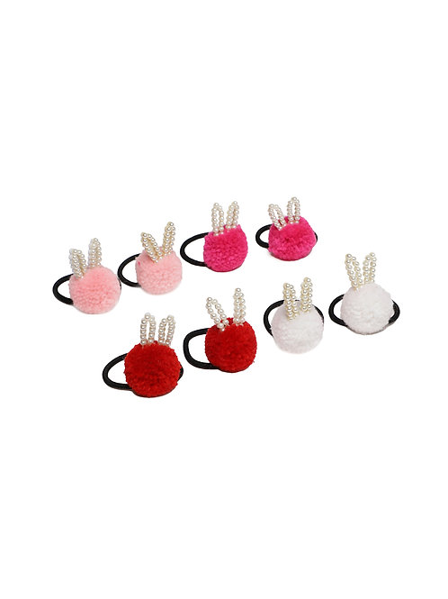 Girls Set of 8 Multicoloured Bunny Hairbands