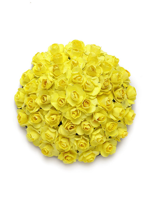 Yellow Embellished Hair Bun Cover