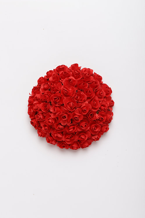 Red Embellished Hair Bun Cover