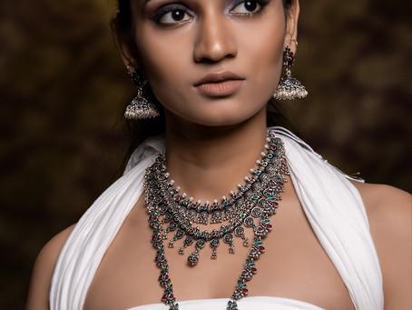 White Elegance for Rakhi Look