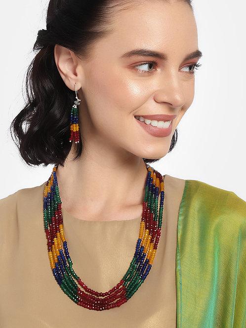 Laida Women Multicolored Beaded Jewellery Set