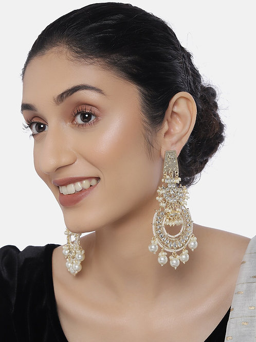 Gold-Plated Classic Drop Earrings