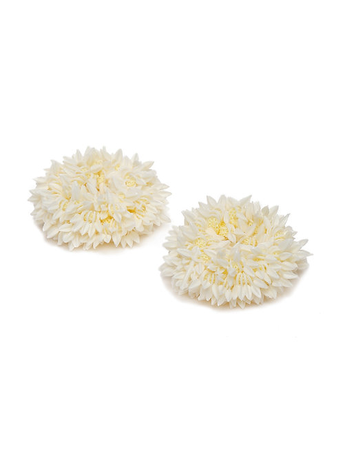 Off-White Pack of 2 Gajra Style Ponytail Holders
