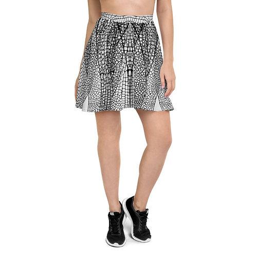 Dragonfly Wing Print Skater Skirt
