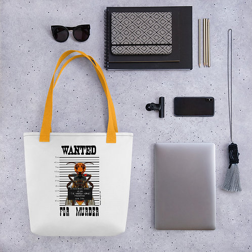 Wanted Poster of a Murder Hornet on a Tote bag
