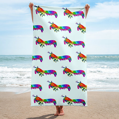 Rainbow Mantis Shrimp Towel