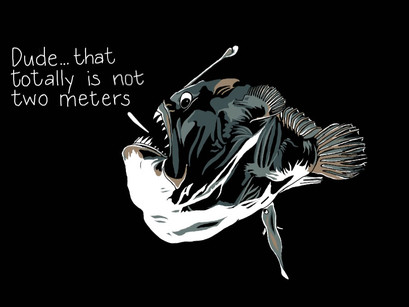 New #thattotallyisnottwometers - #anglerfish