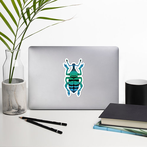 Blue and Green Weevil Decal