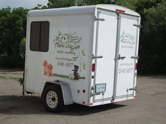 Prairie Dog Spa - vinyl trailer graphics.