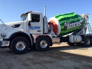 Watermelon concrete truck cementing loads of media attention!