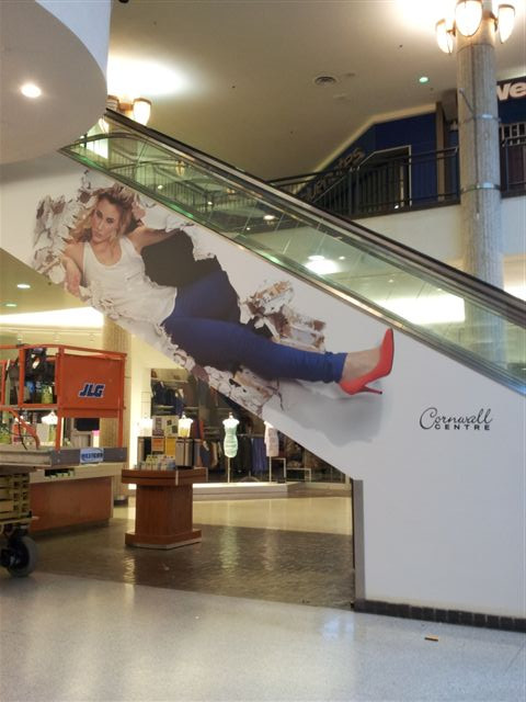 Cornwall Centre - vinyl wall graphic.