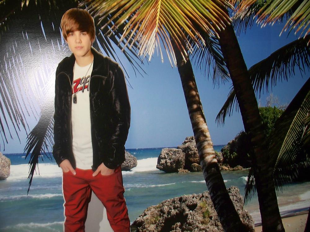 Justin Bieber - printed cut-out.