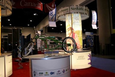 Sask Ministry of Enterprise & Innovation - custom display.