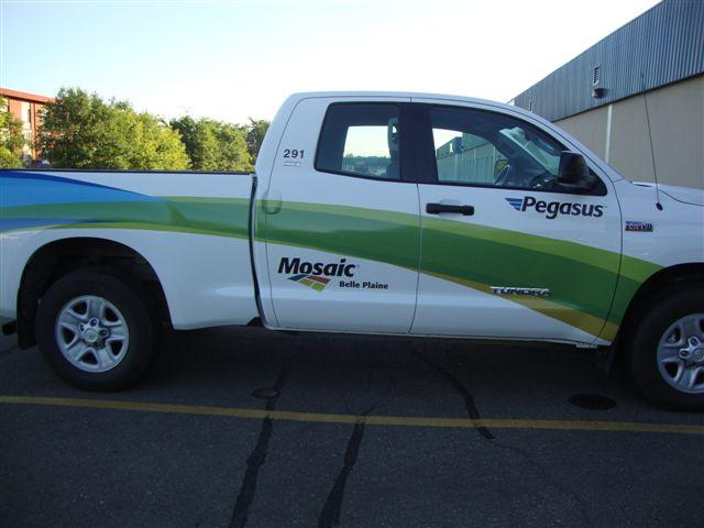 Mosaic Potash - vinyl truck wrap.