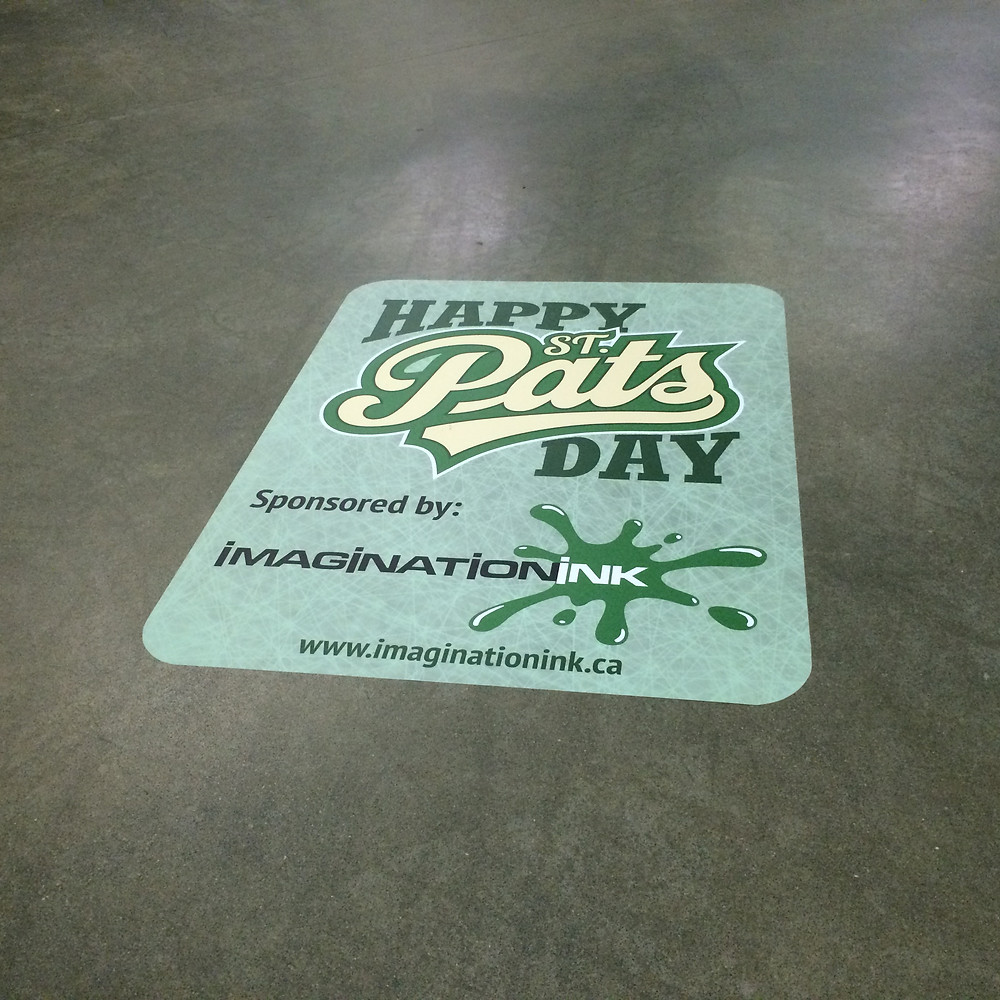 Regina Pats - vinyl floor decal